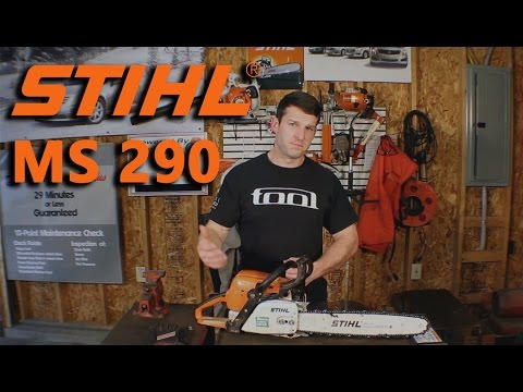 Stihl MS 290 Chainsaw repair. and cutting.