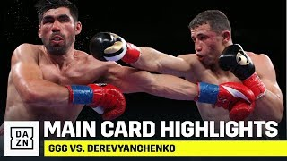 MAIN CARD HIGHLIGHTS | GGG vs. Derevyanchenko
