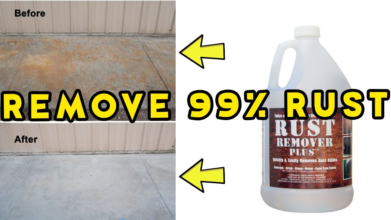 Rust Remover Plus Before And After Cleaning Fertilizer