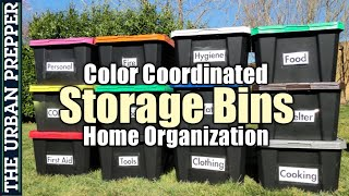 Storage Bins: Color-Coordinated Organization for Home Preps