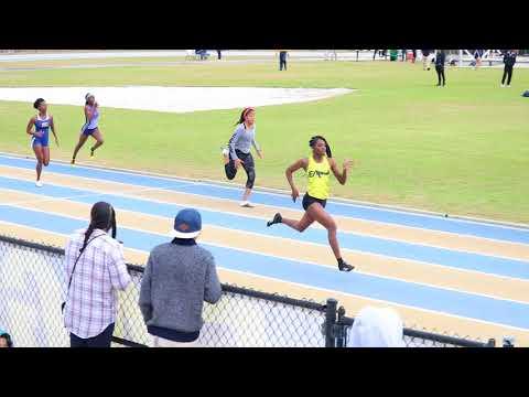 Tamari Davis 200m / Erianna Teague 200m / Embry Riddle Indoor Outdoor Meet 1-20-2018