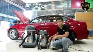 Cách giặt ni sàn ô tô BMW đã ố mốc mà không phải lột, tháo sàn