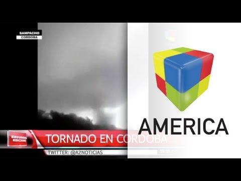 El paso arrollador de un tornado en una localidad de Córdoba