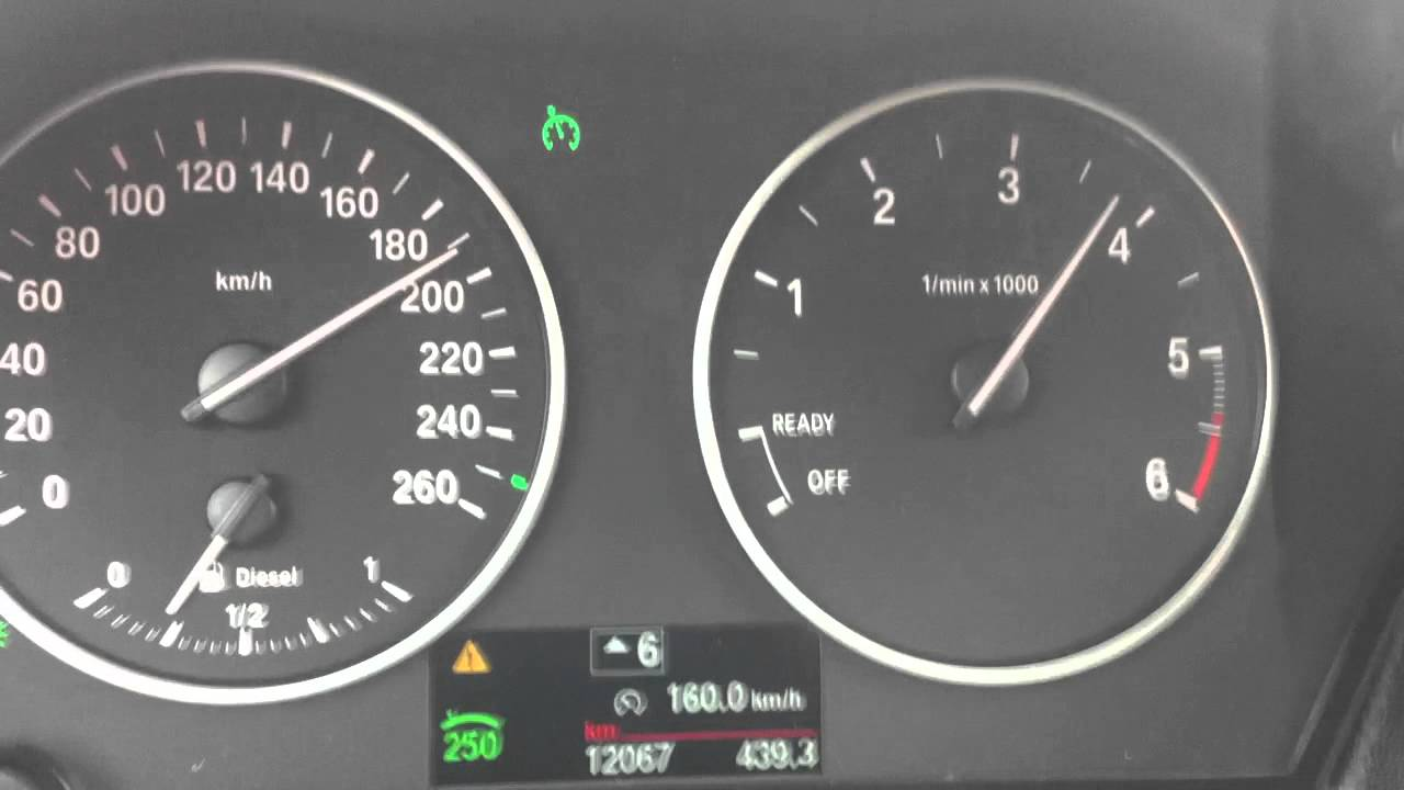 BMW 116d F20 electronic limit to 195Km/h top speed - YouTube