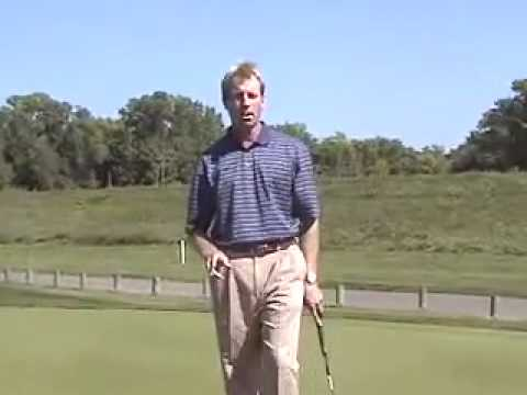 Putting between 2 golf tees drill
