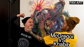 Mcgregor vs Khabib fight drawing - fan art