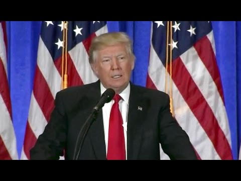 Watch President-elect Donald Trump Press Conference in NYC. Jan 11. 2017. CNN, Russia, Putin.
