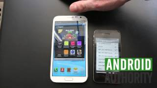 Samsung Galaxy Note 2 VS iPhone 4S
