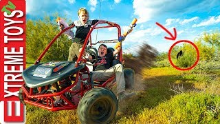 Backyard Mystery Creature Revealed!? Go Kart Ride along with Ethan and Cole.