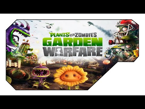 Plants vs Zombies Garden Warfare:  QUAD FEED CREW Gardens and Graveyards Plants