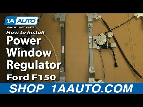 How To Install Replace Rear Power Window Regulator 2004-08 Ford F150
