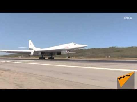 Два бомбардировщика Ту-160  приземлились в Каракасе (Венесуэла)