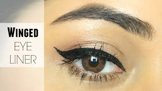 How to do a Winged Eyeliner | Makeup Basics | corallista