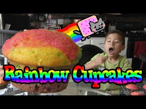 Making RAINBOW CUPCAKES - Nyan Cat Style!