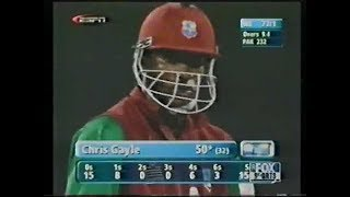 Chris Gayle Destroyed Waqar Younis and Shoaib Akhtar 2nd ODI 2002