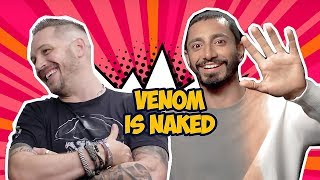 Venom Cast Makes Each Other Laugh So Hard (Tom Hardy, Riz Ahmed)