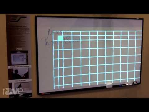 InfoComm 2013: Elite Screens Dry-Erase White Board Projection Screen