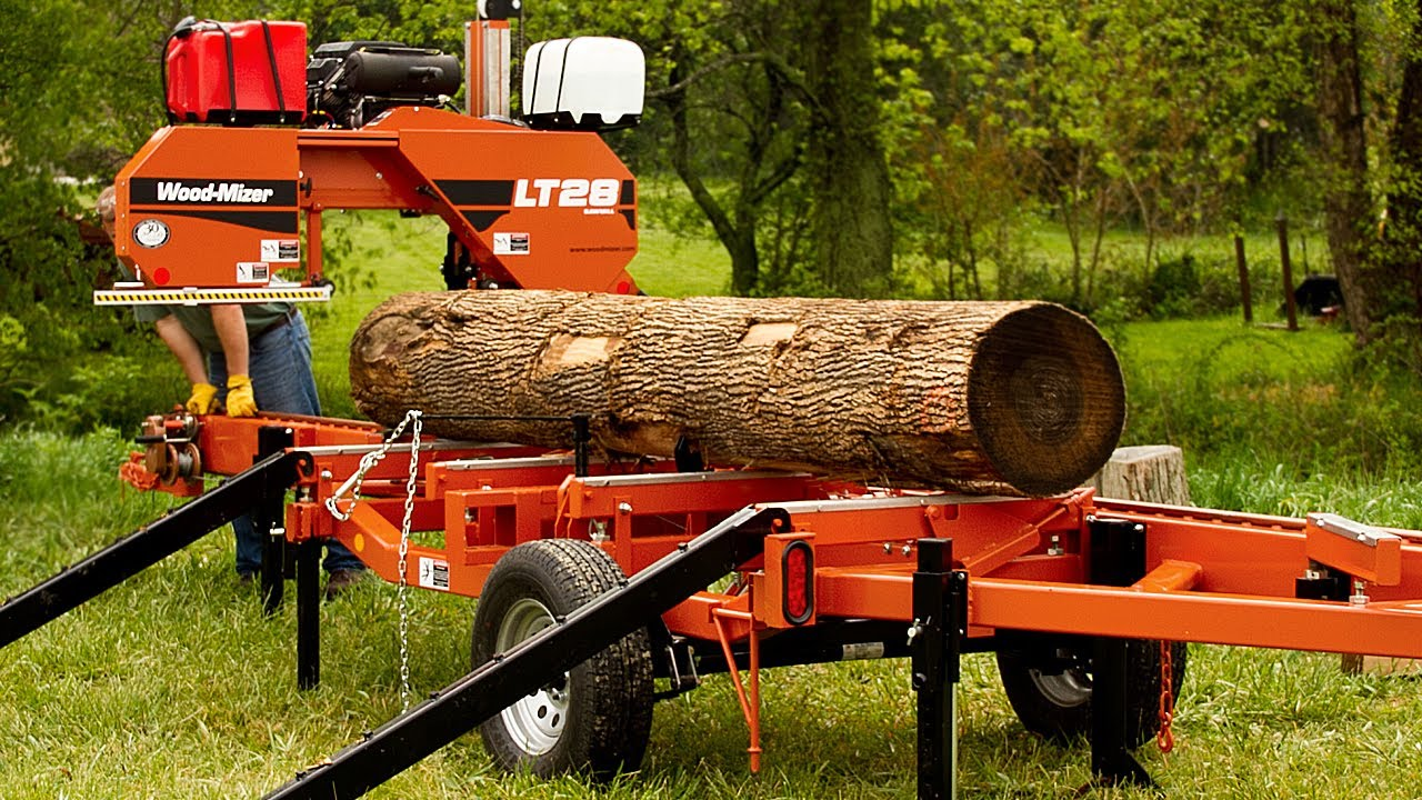 Wood Mizer Lt28 Portable Sawmill Easy Offbearing Bed