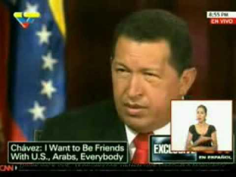 Larry King entrevista a Hugo Rafael Chávez Frías presidente de Venezuela 2/4
