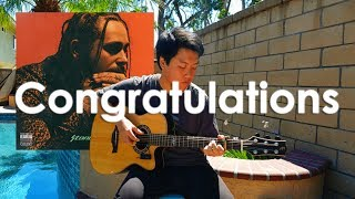 download lagu Post Malone Congratulations - Free Tabs Fingerstyle Guitar Cover gratis