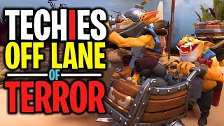 Techies Off Lane of Terror - DotA 2 Funny Moments