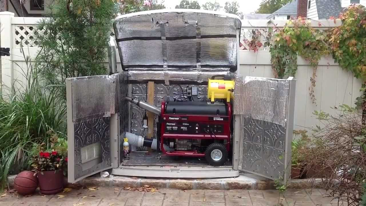 Quiet Generator Shelter YouTube