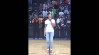 Demetria McKinney National Anthem