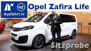 Weltpremiere 2019 Opel Zafira Life M - Sitzprobe, Debut, kein Test - Brüssel Autoshow