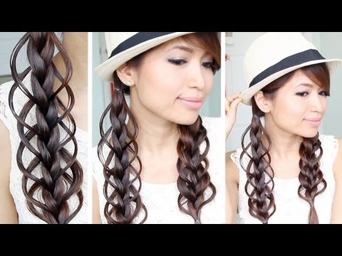 Feather Loop Braid Hairstyle for Medium Long Hair Tutorial