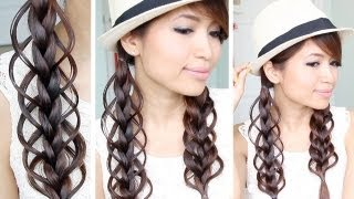 Feather Loop Braid Hair Tutorial Hairstyle - Bebexo