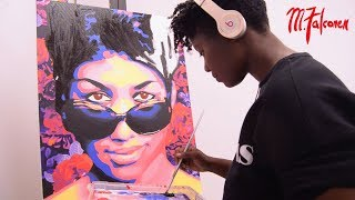 Aretha Franklin Pop Art Tribute | M.Falconer | Time Lapse Painting