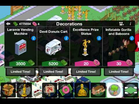 The Simpsons Tapped Out unlimited donuts cheat/hack 4.2.4 1