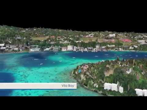 Vanuatu LiDAR data acquisition 3D flythrough video