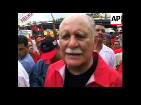 Pro and anti Chavez marches on May Day