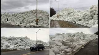 """""""Ice Tsunami"""" Spurs Evacuations and Road Closures In Great Lakes Regions"""