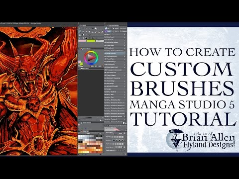How to create custom brushes in Manga Studio 5 from Photoshop brushes