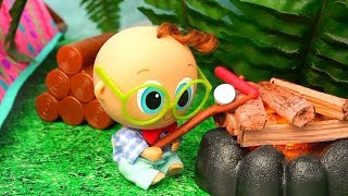 Toddlers Camping ! Playing ! Toys and Dolls Fun with Babies - Baby Doll Play for Kids | SWTAD
