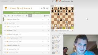 Magnus Carlsen streaming the  Lichess Titled Arena 9  (2018/Dec/15)