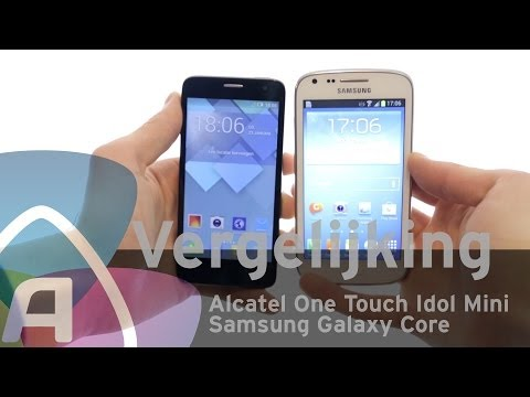 Alcatel One Touch Idol Mini vs Samsung Galaxy Core review (Dutch)