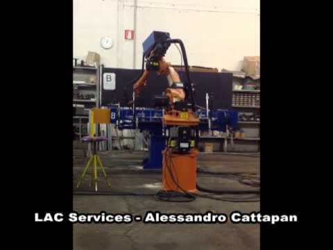 LAC Services – Robot saldatura sedie per il Kazakistan. Test in italia