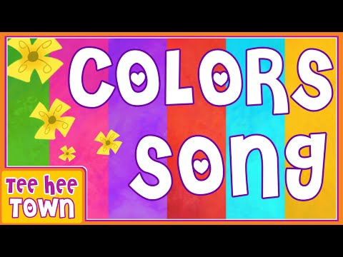 Colors Song | Learn Colors with Len and Mini | Nursery Rhymes for Children by Teehee Town