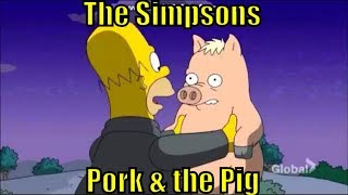 The Simpsons s 28 e 11 Pork & Burns spider pig homer video