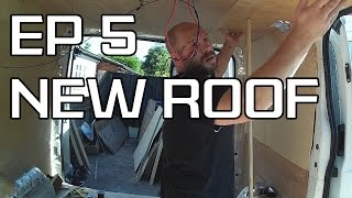 DIY Camper Build - Episode 5 - Ply lining the roof and chat in the rain