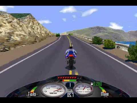 Road Rash (PC) Windows 95 Pacific Highway level 5