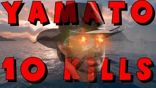 CHUCK NORRIS is here !! 10 KILLS IN YAMATO || World of Warships