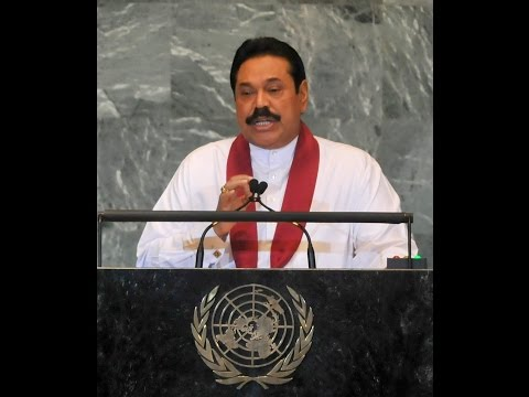 President Mahinda Rajapaksa at UN Climate Summit 2014