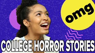 Yara Shahidi Reacts to College Dorm Horror Stories