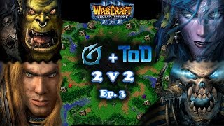 Grubby   Warcraft 3 The Frozen Throne   Orc & Human vs. Night Elf & Undead   2v2 with ToD