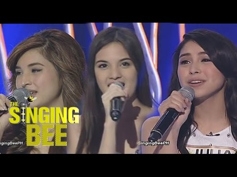 Pretty celebrities compete in the Singing Bee