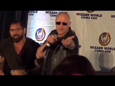 Batista And Michael Rooker At Chicago Comic Con Wizard World 2014 Guardians Of The Galaxy Panel video